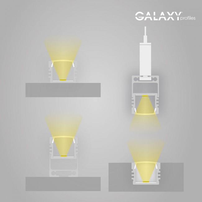 Anleitung Zum Aufbau Einer Indirekten Beleuchtung Mit Leds: GALAXY Profiles 8106023 PL2 LED Aufbau- Profil Hoch Länge