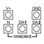 LUNATONE 89453843-HS DALI RGBW PWM LED Dimmer CV, 12-48VDC 16A Hutschiene