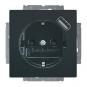 BUSCH-JAEGER 20 EUCBUSB-81 SCHUKO USB-Steckdose Safety+ Anthrazit