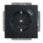 BUSCH-JAEGER 20 EUCBUSB-885 SCHUKO USB-Steckdose Safety+ Schwarz matt