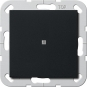 GIRA 0120005 Taster mit gerade stehender Wippe und Kontroll-Fenster Schwarz matt