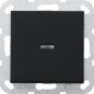 GIRA 0122005 Tast-Kontrollschalter Ausschalter 2polig Schwarz matt