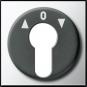 GIRA 0664605 Abdeckung für Schlüsselschalter und Schlüsseltaster Chrom