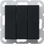 GIRA 2832005 Wippschalter 3fach Universal-Aus-Wechselschalter Schwarz matt