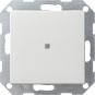 GIRA 012027 Taster mit gerade stehender Wippe und Kontroll-Fenster Reinweiß seidenmatt