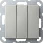 GIRA 2832600 Wippschalter 3fach Universal-Aus-Wechselschalter Edelstahl