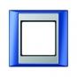 JUNG AP 581 BL AL Rahmen blau-aluminium 1-fach