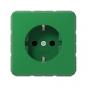 JUNG CD 1520 BFKI GN SCHUKO Steckdose integrierter erhöhter Berührungsschutz Grün (für SV) hochglänzend