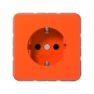 JUNG CD 1520 BFKI O SCHUKO Steckdose integrierter erhöhter Berührungsschutz Orange (für ZSV) hochglänzend