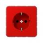 JUNG CD 1520 BFKI RT SCHUKO Steckdose integrierter erhöhter Berührungsschutz Rot hochglänzend
