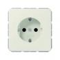 JUNG CD 1520 BFKI SCHUKO Steckdose integrierter erhöhter Berührungsschutz Weiß hochglänzend