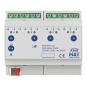 MDT AKD-0401.02 Dimmaktor 6TE REG 250W 230VAC mit Wirkleistungsmessung 4-fach