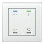 MDT BE-GTL2TW.C1 Glastaster II Light 2fach RGB-W Weiß (Jalousie/Schalten)