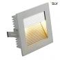 SLV 112772 FLAT FRAME Einbauleuchte max. 20W G4 QT9 eckig Silbergrau