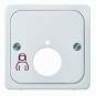 ELSO 735860 Zentralplatte für Monitorruftastereinsatz Perlweiß
