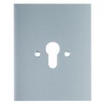 BERKER 1904 Metall-Abdeckung Druckguss IP44 ohne Aufdruck