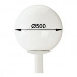 ALBERT 680858 Mastaufsatzleuchte 1-flammig Ø 50 cm Weiß