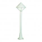 ALBERT 682031 Wegeleuchte mit Opalglas Weiß