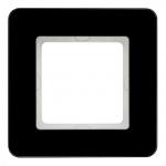 BERKER 10116076 Abdeckrahmen Glas Schwarz 1-fach