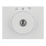 BERKER 1079710900 Zentralstück mit Schloss für Jalousie-Schlüsselschalter Polarweiß glänzend