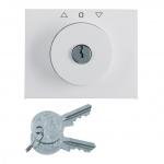 BERKER 1079720900 Zentralstück mit Schloss für Jalousie-Schlüsselschalter Polarweiß glänzend