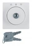BERKER 10836089 Q.1/Q.3 Zentralstück mit Schloss für Jalousie-Schlüsselschalter Polarweiß samt