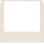BERKER 13198982 Designrahmen eckig ELCOM.TOUCH Audio Rahmen Weiß glänzend