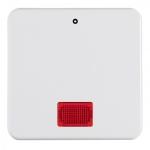 BERKER 155809 Wippe mit roter Linse und Aufdruck Polarweiss glänzend