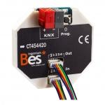 BESKNX CT454420 4E4SL-K KNX Aktor für mechanische Steuerung 4 digitale Eingänge und Ausgänge