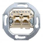 BUSCH-JAEGER 0214 UAE-Anschlussdose Kat.3, 2-fach 2x8 (8)-polig