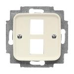BUSCH-JAEGER 2561-02-212 Duro 2000 SI Abdeckung für 2 Modular Jack
