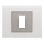 EKEY 101705 Rahmen 503 für Fingerscanner Unterputz Glas Weiß