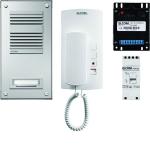 ELCOM 1000711 Audio Set ASP-1EL AP 1+n Alu/weiß STABILA/HAT-402 1-Teilnehmer
