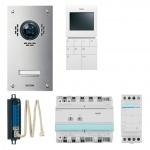 ELCOM 1087618 Video Set VSZ-1EM UP/AP Edelstahl/weiß ESTA/BVF-510 für 1 Teilnehmer