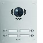 ELCOM 1104181BTC Türstation ESTA für Kamera-Türlautsprecher UP 4-fach, 2-reihig