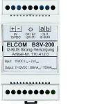 ELCOM 1704120 Strangversorgung REG i2Audio BSV-200 lichtgrau