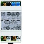 ELCOM 1901130 Schaltrelais 2-fach REG i2Audio BSR-200 lichtgrau
