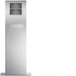ELCOM 4924281 Standsäule mit Briefkasten SMB-4/2EM mit LED Flächenleuchte MODESTA 4-fach, 2-reihig