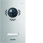 ELCOM 5101180BTC Türstation ESTA für Kamera-Türlautsprecher UP Edelstahl 1-fach, 1-reihig