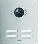 ELCOM 5104181BTC Türstation ESTA für Kamera-Türlautsprecher UP Edelstahl 4-fach, 2-reihig