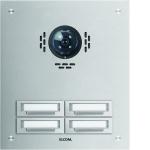 ELCOM 5304511BTC Türstation STABILA für Kamera-Türlautsprecher UP Alu 4-fach, 2-reihig