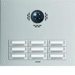 ELCOM 5309512BTC Türstation STABILA für Kamera-Türlautsprecher UP Alu 9-fach, 3-reihig