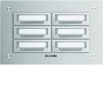 Elcom 5606211 Klingelplatte STABILA UP Alu 6-fach, 2-reihig