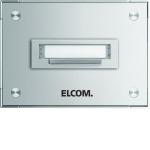 Elcom 5701210 Klingelplatte STABILA AP Alu 1-fach, 1-reihig