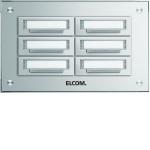 Elcom 5706211 Klingelplatte STABILA AP Alu 6-fach, 2-reihig