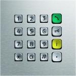 ELCOM 5813600 IP Direktwahl-Tastatur Modul TBM-300 EB MODESTA Edelstahl matt