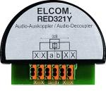ELCOM RED321Y Auskoppler für i2Audio UP 2Draht schwarz