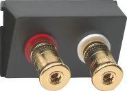 GIRA 009100 Einsatz High-End Lautsprecher-Steckverbinder WBT ( /-)
