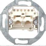 Gira 018700 Rutenbeck ISDN Anschlussdose Cat.3, 2-fach, 2x8-polig