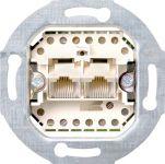Gira 019000 Rutenbeck ISDN Anschlussdose Cat.3, 2-fach, 2x8-polig, 8/8 (8/8)